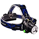 YXCXC LED Strong Headlight Telescopic Focusing Head Rotating Zoom Light Outdoor Head-Mounted Strong Flashlight