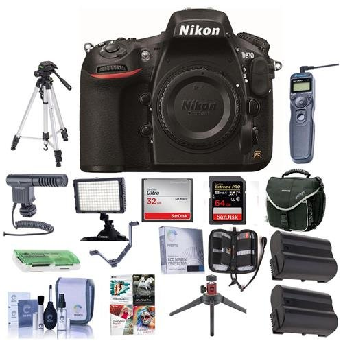 Nikon 810 Digital SLR Camera, 36.3MP - Bundle with Camera