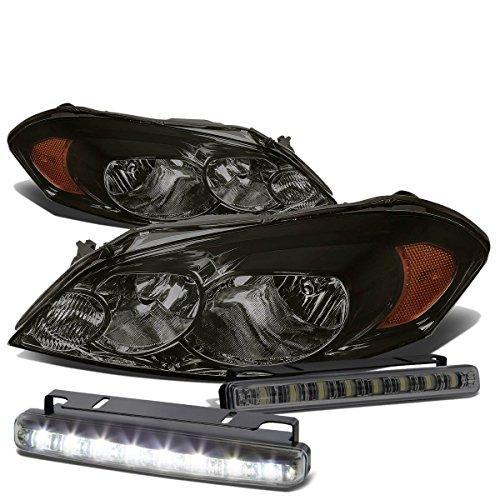 For Chevy Impala/Monte Carlo Smoke Lens Amber Corner Headlight+Smoked DRL 8 LED Fog Light ()