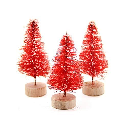 (DIY Christmas Tree Small Pine Tree Mini Trees Placed in The Desktop Home Decor Christmas)
