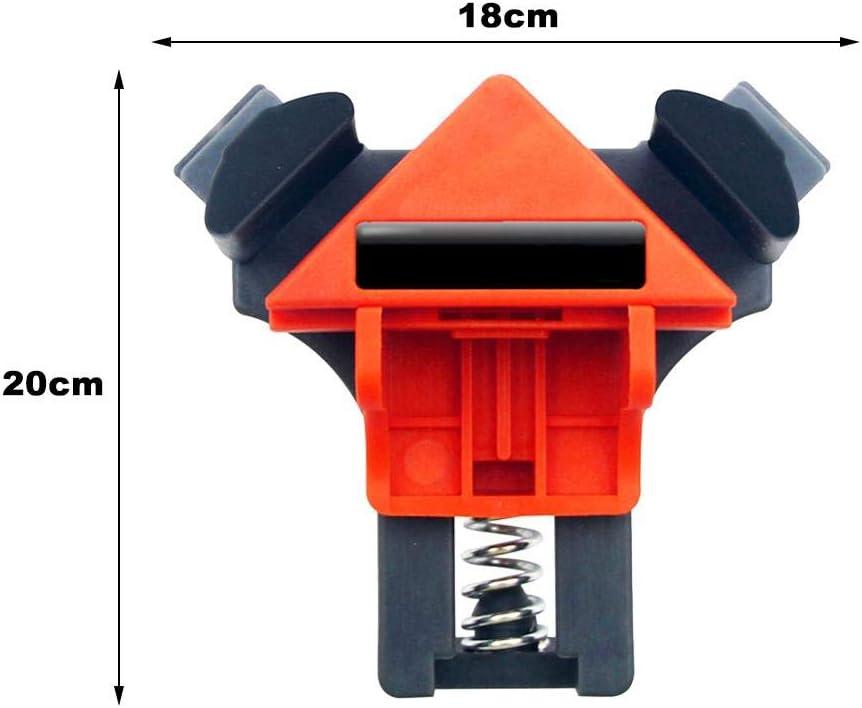 gabinetes Gereton 4 unids Carpinter/ía Multifunci/ón /ángulo Recto Abrazadera Vise Cajas de Bricolaje Ajustables Marco de Imagen Corner Clip Fixer