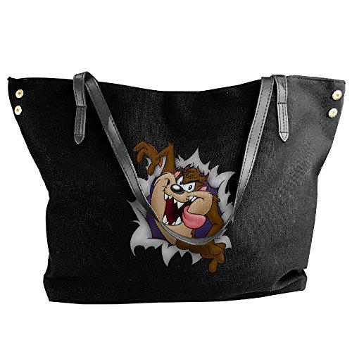 Looney Tunes Tasmanian Devil Women Canvas Handle Single Shoulder Bag/Handbag (Looney Tunes Handbag)