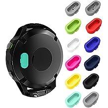 Garmin Fenix 5 5S 5X Dust Plug (12 Pcs) Fit Garmin Vivoactive 3 Vivosport Forerunner 935 Approach S60 D2 Charlie Quatix 5 Smartwatch 12 Pcs (Multi-Color)