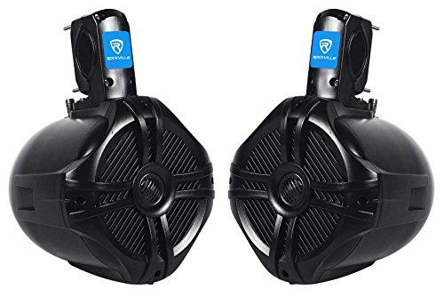 Rockville RWB65B Pair 6.5' Black 2 Way 250 Watt Marine Wakeboard Tower Speakers