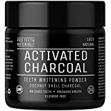Beauty : Activated Charcoal Natural Teeth Whitening Powder by Pro Teeth Whitening Co Grey Charcoal (non abrasive and proven safe for enamel) From Coconut Shells | Manufactured in England