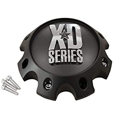 KMC XD Series 441 796 797 798 8 Lug Matte Flat Black Short Center Cap 309B170-8H: Automotive