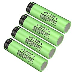 Skywolfeye 4 Pack of NCR18650B Flat Top Batteries 3.7V 3400mAH Lithium Rechargeable Battery for LED Lights/Toys/Alarm Clocks/Flashlight Torch