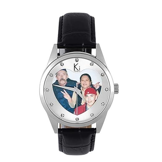 Reloj Artesanal con Foto Personalizada Relojes Personalizados con Foto Relojes Fotográficos Personalizados para Unisex Regalo de Cumpleaños con Banda de ...