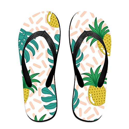Colorful Kids PTJHKET Flops Men Pineapples Summer Flip Black Women Slippers for TqEgqwOzx