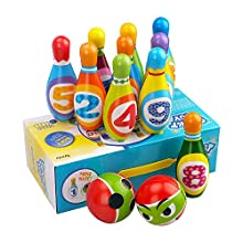 3-6 Year Old Boy Girl Toddler Toys, Kids Early Educational Toy Gift Active Game for Kids Girls Boys Age 2 3 4 Toddler Birthday Present Gift Party Games Bowling Set Toy for 2-5 Year Olds Kid Child