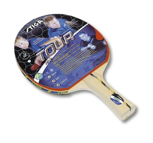 Stiga Tour Table Tennis Bat - Red, 33 Speed by Stiga by Stiga