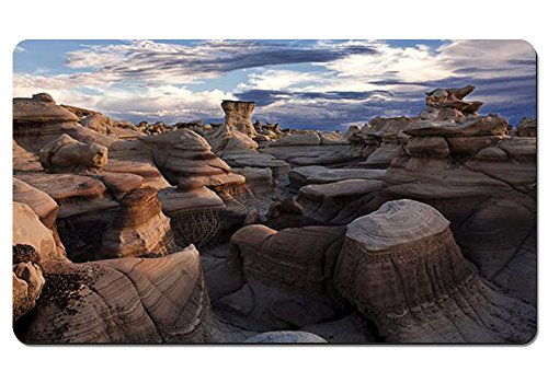 Computer Keyboard Mousepad Water-Resistant Non-Slip Base - Bisti Badlands New Mexico - Large Extended Gaming Mouse Pad Mat - 23.6x13.8 ()