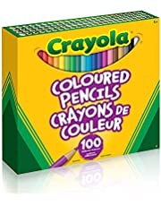 Crayola 67-6100 Coloured Pencils, 100 Count Pencil Crayons, Vibrant colours, Pre-sharpened, Art Tools, Adult Colouring, Bullet Journaling, School and Craft Supplies, Drawing Gift for Boys and Girls, Kids, Teens Ages 5, 6,7, 8 and Up, Back to school, School supplies, Arts and Crafts, Stuff