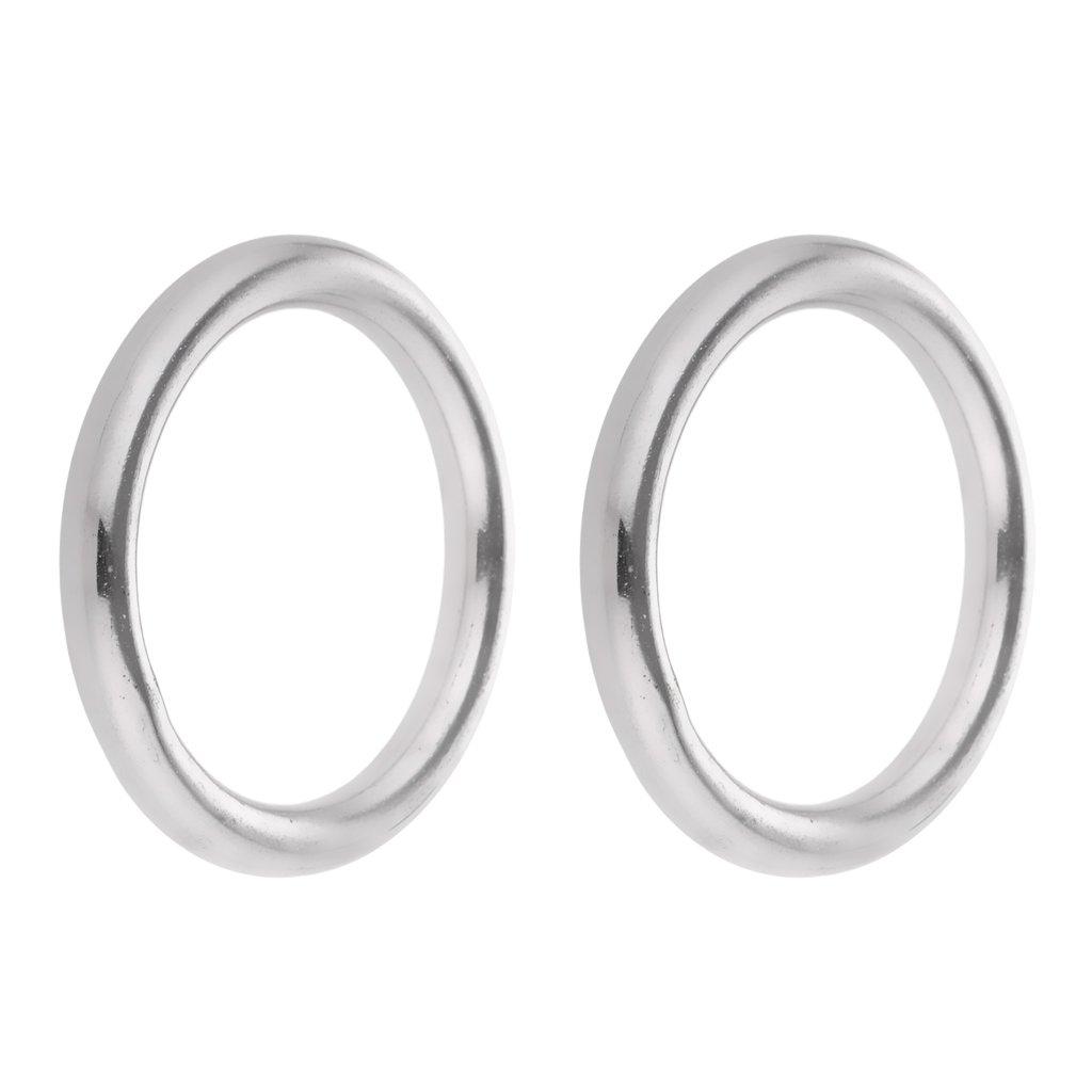 VANKOA Edelstahlringe O Ring Rundring poliert O Ring f/ür Tasche H/ängematte Sport Outdoor Zuhause 5 x 25mm