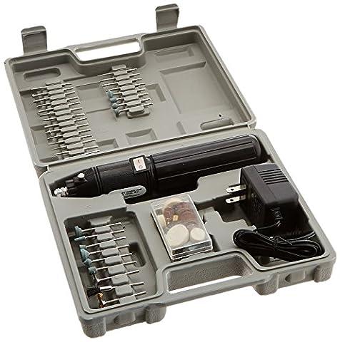 Hiltex 10655 Cordless Die Grinder Rotary Tool Kit, 61 Piece (Cordless Right Angle Die Grinder)