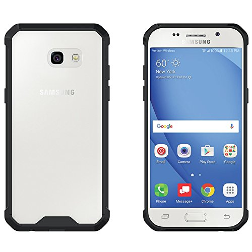 newest 34487 d486d Galaxy A5 2017 Cover, Ultra Thin Fit Clear Back Case Cover with Air  Cushioned Side Bumper & Crystal Clear Anti-Scratch Back Panel Galaxy A5  2017 Back ...