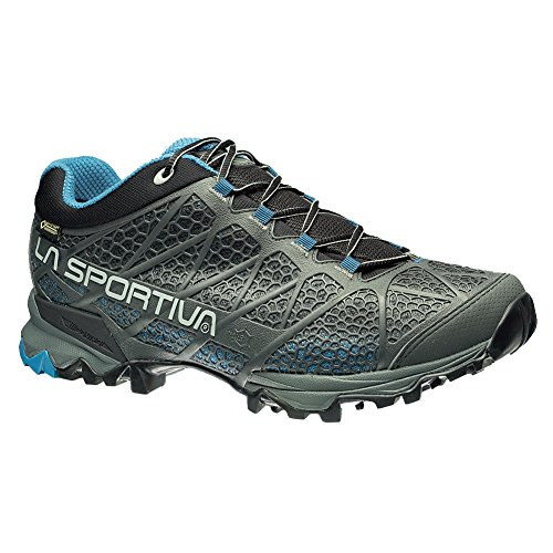 (La Sportiva Men's Primer Low GTX Hiking Shoe, Carbon/Blue, 40.5 M EU)