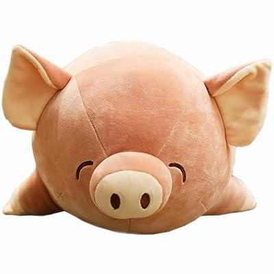 Almohada De Juguete Súper Suave Linda Almohada de Cerdo Adecuada para Todas Las Edades Animales de Peluche Regalo de Cumpleaños Decoración de la Habitación de la Oficina: Hogar