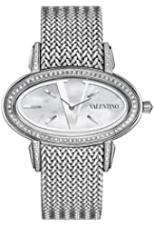 Valentino Women's V50SBQ9191S099 Signature Stainless Steel Diamond Oval Watch