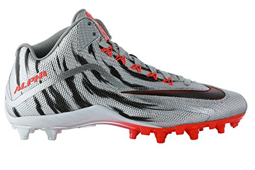 Nike Mens Alpha Pro 2 Tacchetta Da Calcio Grigia, Rossa, Nera