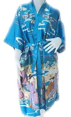 Bath Robe Japanese Kimono Satin And Silk