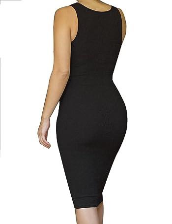 Womens Sleeveless Sexy Bodycon Midi Bandage Party Evening Dresses