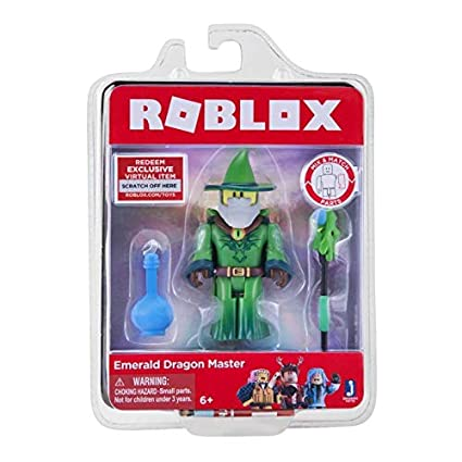 Amazoncom Roblox Emerald Dragon Master Figure With Exclusive
