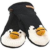 Old Glory - Unisex-adult Peppy The Penguin Knit Mittens Black