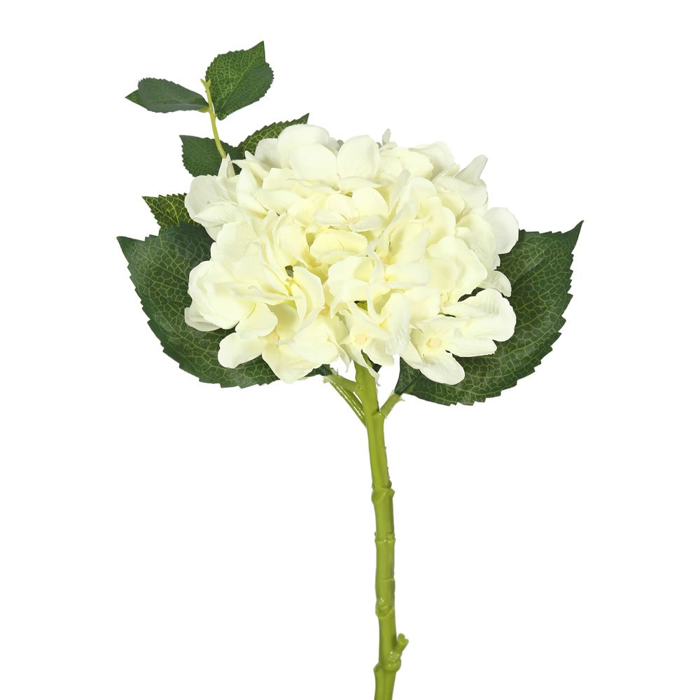 Vickerman FA173701 Cream Everyday Hydrangea Stem