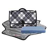 Dete Foldable Waterproof Baby Diaper Changing Mat Portable Changing Pad for Travel Kit and Wipes Case (Box)