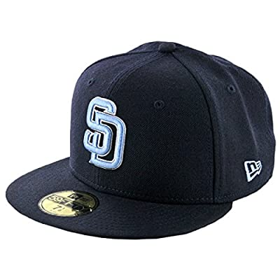 New Era 59Fifty San Diego Padres Fitted Hat (Dark Navy/Sky Blue/White) MLB Cap