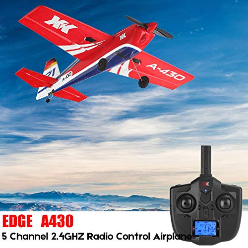 TOTGO A430 RC Airplane, XK A430 2.4G 5CH 1406 Brushless Motor 3D6G Mode System 200m Control Distance RC Fixed-Wing Airplane EPS Aircraft with FUTABA S-FHSS - Ship from USA