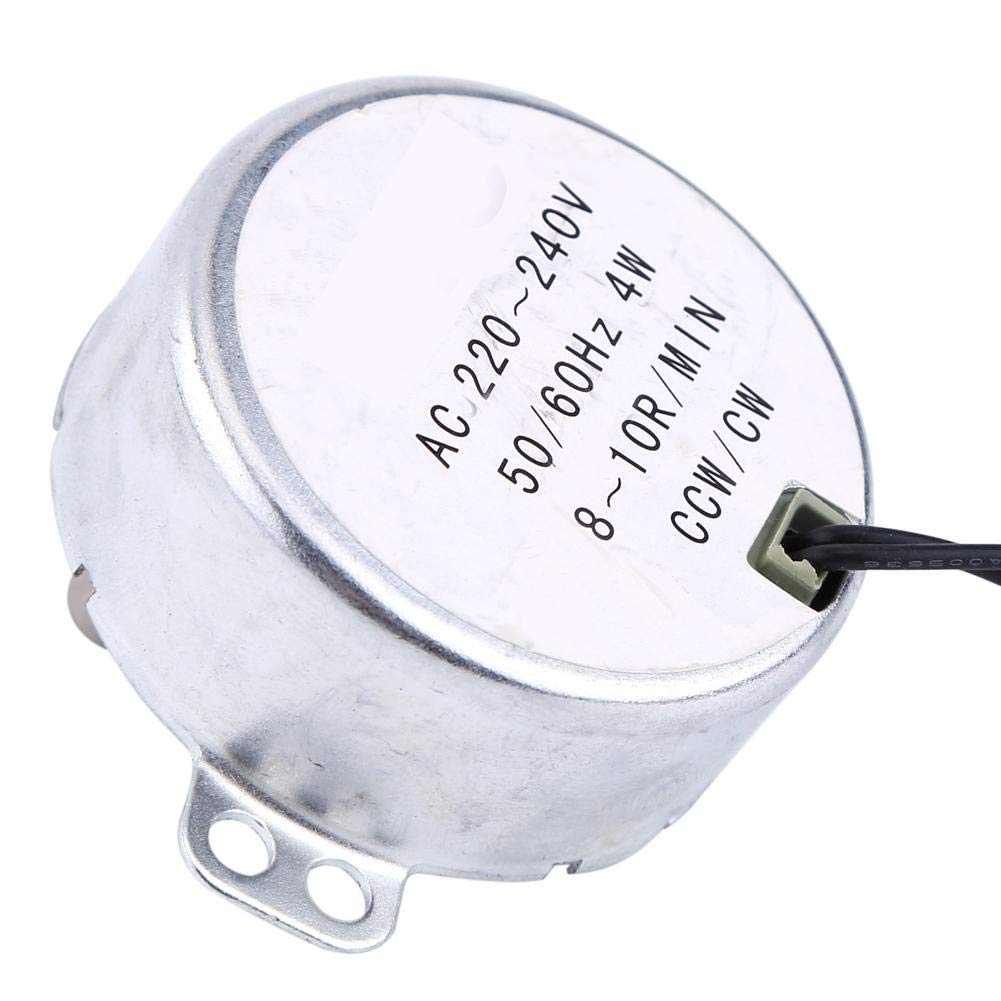 8-10RPM 1pc 220-240V AC 4W Synchronous Motor Geared Motor CW//CCW Synchronous Motor Low Consumption and Low Noise