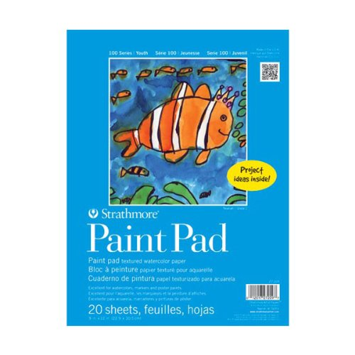 Strathmore STR-27-209 20 Sheet Kids Paint Pad, 9 by 12