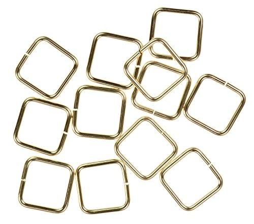 - uGems 12 14K Gold Filled Jump Ring Square 20ga 8mm