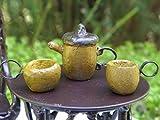 Magic Miniature Dollhouse Fairy Garden Tiny Acorn Tea Set Mini Garden Scene
