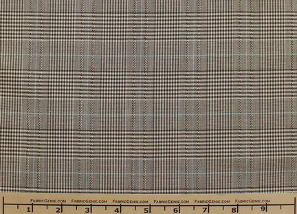 Glen Plaid Plaid Suiting Fabric, Stretch Suiting Fabric-OLIVE/OCEAN -
