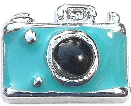 Blue Camera Floating Locket Charm ()