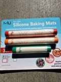 miu 99188 France 3 Piece silicone baking liners color may vary, 11.6 x 16.5 & 11.6 x 8.2, red, orange green