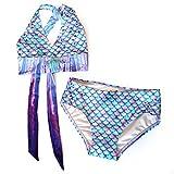 Apparel : Sun Tail Mermaid Swimsuit - Girls Bikini Set - Designer Scale Colors