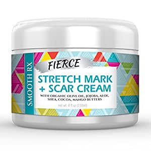 Best Scar Cream and Stretch Mark Removal Cream - Huge 4 Oz. - Breakthrough Treatment for Acne & Other Scars