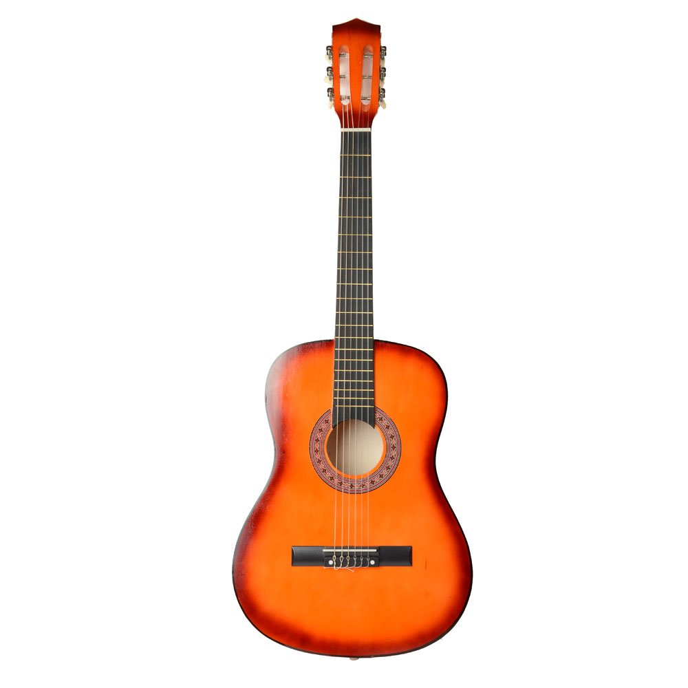 38'' Beginner Classical Guitar Starter Package Student Guitar with Strap and Pick,Orange
