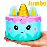 Toys : R • HORSE Jumbo Squishy Kawaii Cute Unicorn Mousse Cream Scented Squishies Slow Rising Kids Toys Doll Stress Relief Toy Hop Props, Decorative Props Large (Narwhal Cake)