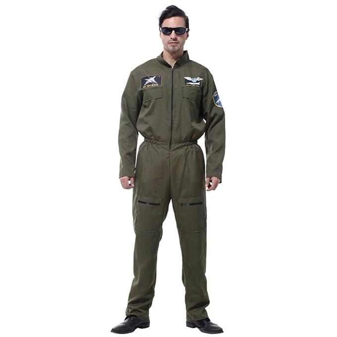 IPOTCH Vintage Militar Verde Traje de Astronauta para ...