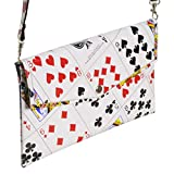 Large Thin Clutch Purse Made of Real Play Cards Prime Gift idea for poker bridge player friend daughter mother addicted to solitaire evening wedding las vegas trip casino bag functional handmade art