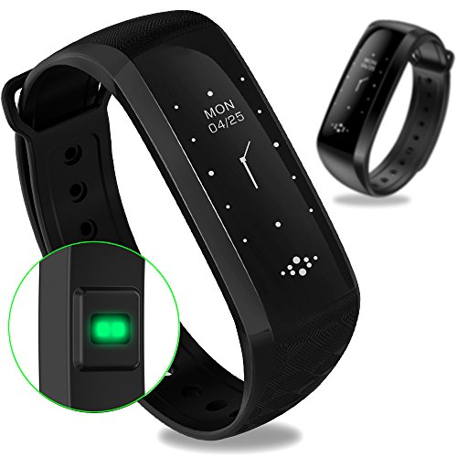 WearPai Smart Band Smart Bracelet Bluetooth 4.0 Fitness Tracker with Heart Rate Monitor Sleep Monitor Calorie Counter Pedometer Sport Activity Tracker for Android and IOS Smart Phone (Black)