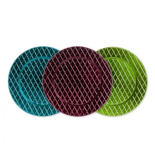 Koyal Wholesale Couture Sample Pack Charger Plates, Set of 30