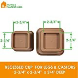 Brown-Adjustable-Bed-or-Furniture-Riser-to-8-5-or-3-Inches-in-Height-Heavy-Duty-Set-of-4-by-Home-Garden-Aids