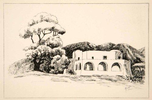 1937 Photogravure Burano Italy Signor Cesare Giusto Home Robert Merman Artwork   Original Photogravure