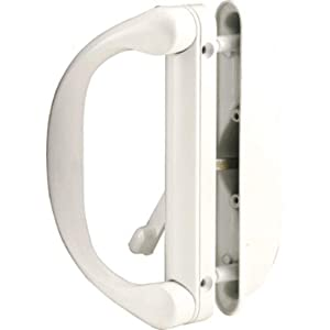 Sliding Patio Door Handle Set for Milgard, White